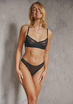 Dylan Underwire Bra | Black - Souszy - Saturday The Label
