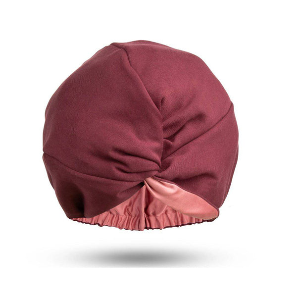 Signature Silk Hair Turban | Burgundy