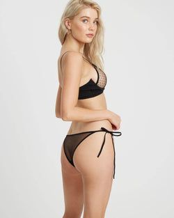 Crescent Tie-Side Briefs | Black