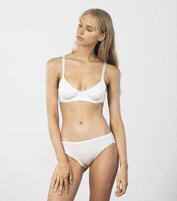 Basic Underwire Bra | White