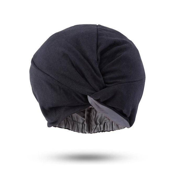 Signature Silk Hair Turban | Grey