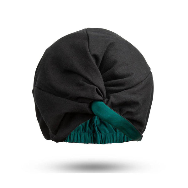 Signature Silk Hair Turban | Forest Green