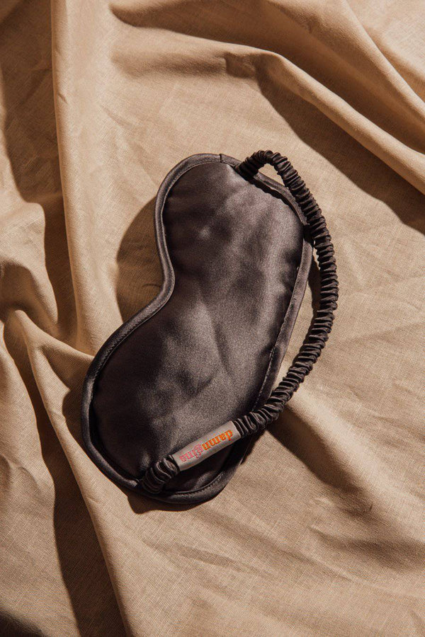 Damn Good Silk Eye Mask | Slate Grey