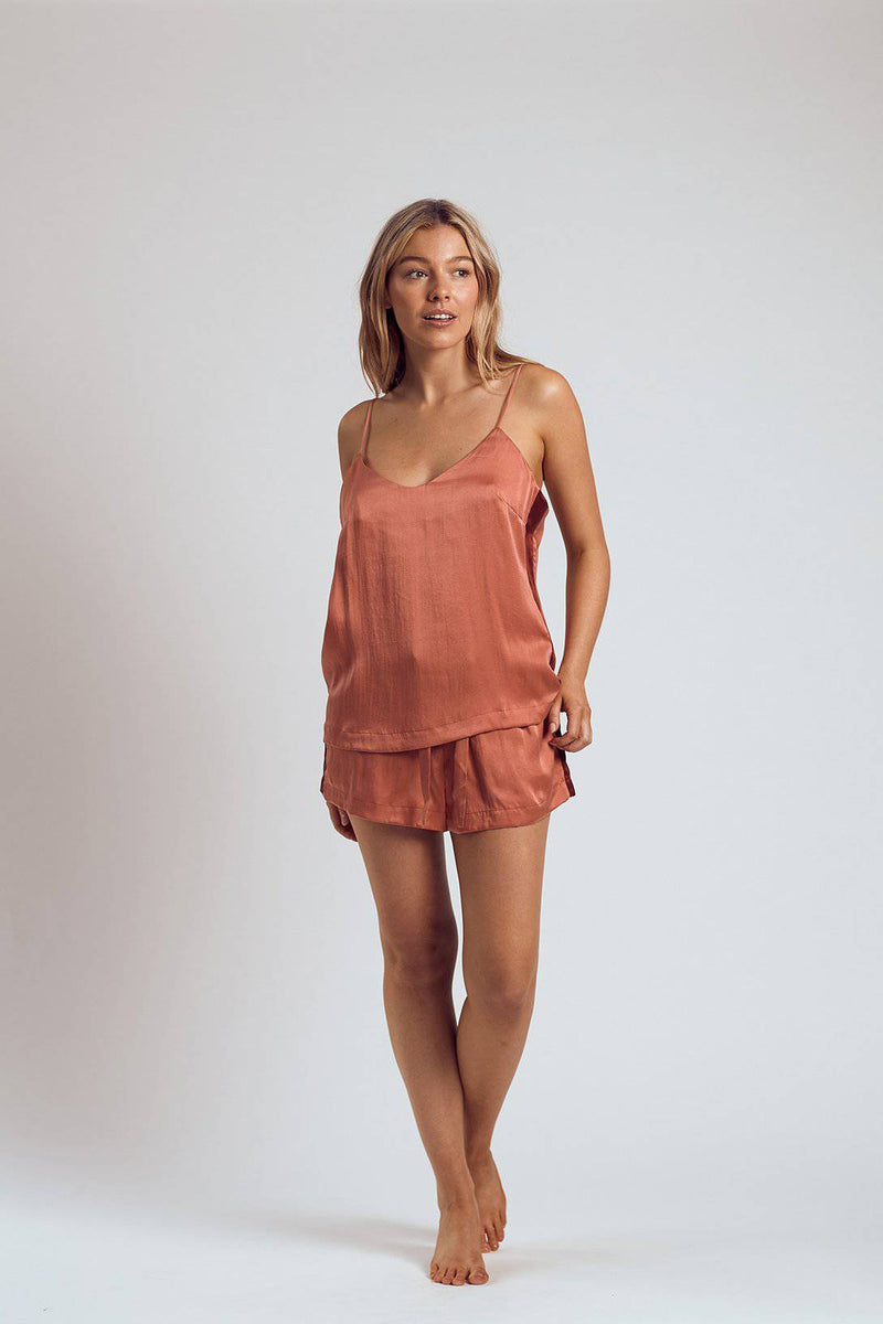 Silk Cami | Rose - Souszy - The Silk Robe