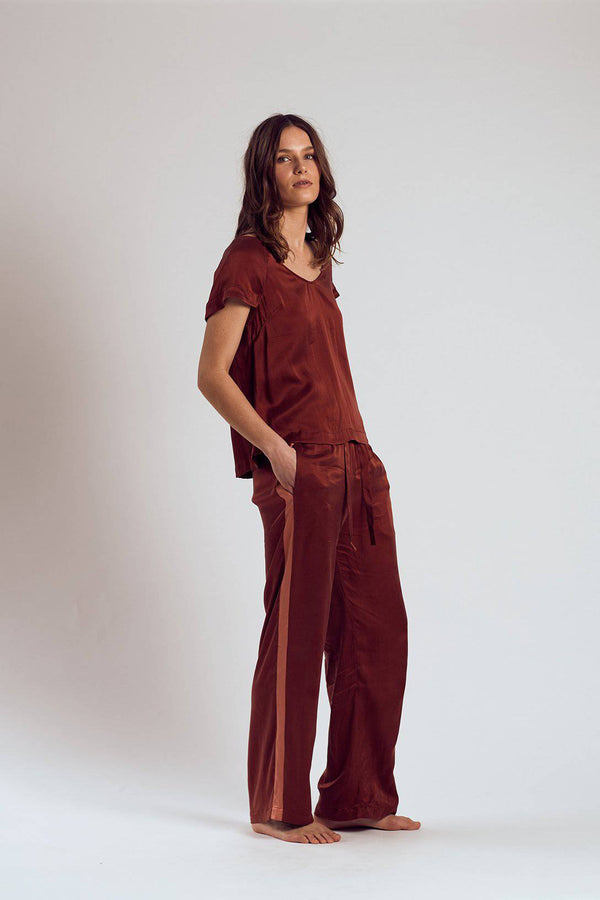 Silk Set | Merlot - Souszy - The Silk Robe
