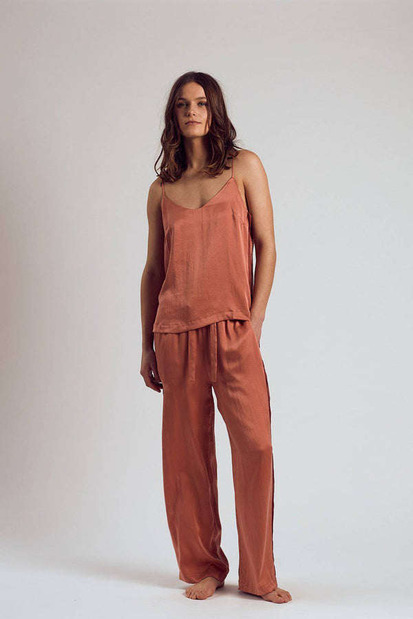 Silk Pants | Rose - Souszy - The Silk Robe