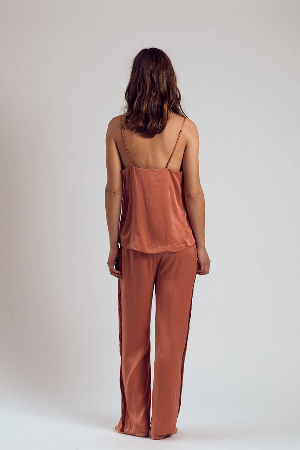 Silk Pants | Rose