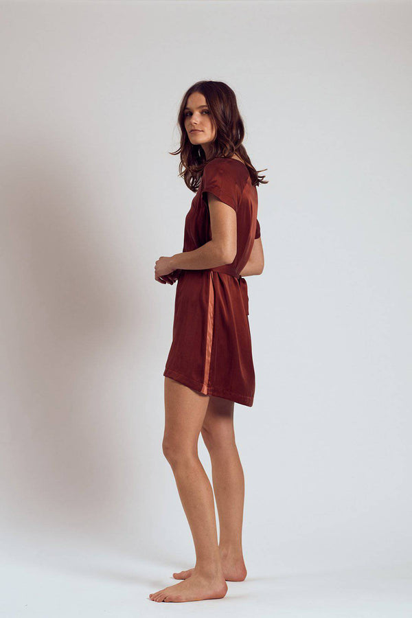 Silk Dress | Merlot - Souszy - The Silk Robe