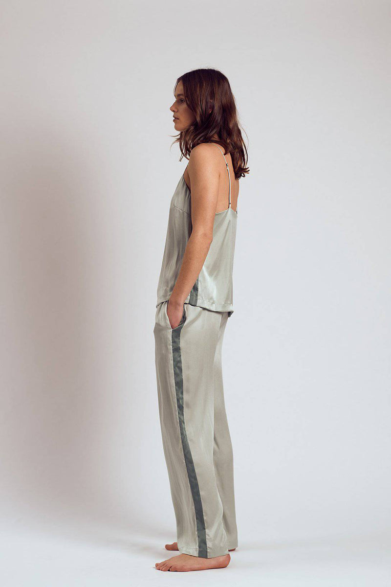 Silk Pants | Chartreuse