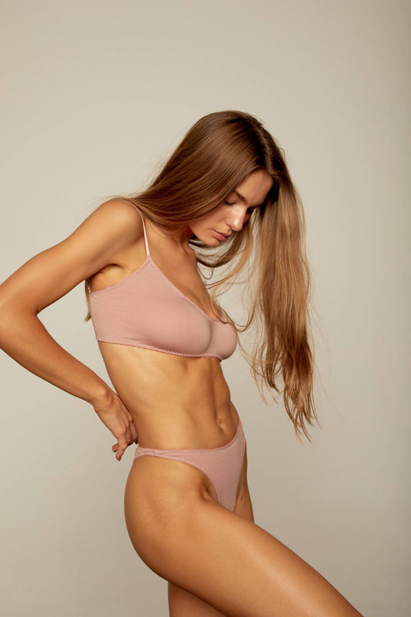 Bowie Crop | Tearose - Souszy - Aimee-Cherie Intimates