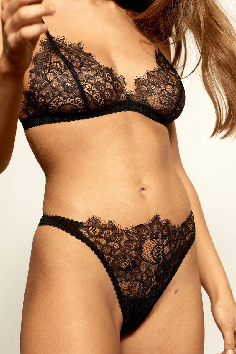 Margot Bottoms | Black - Souszy - Aimee-Cherie Intimates