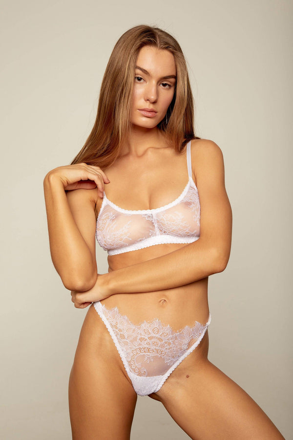 Margot Bottoms | White - Souszy - Aimee-Cherie Intimates