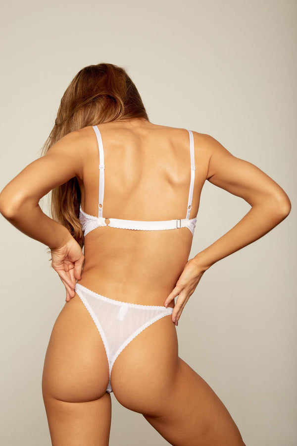 Margot Wide Strap Crop | White - Souszy - Aimee-Cherie Intimates