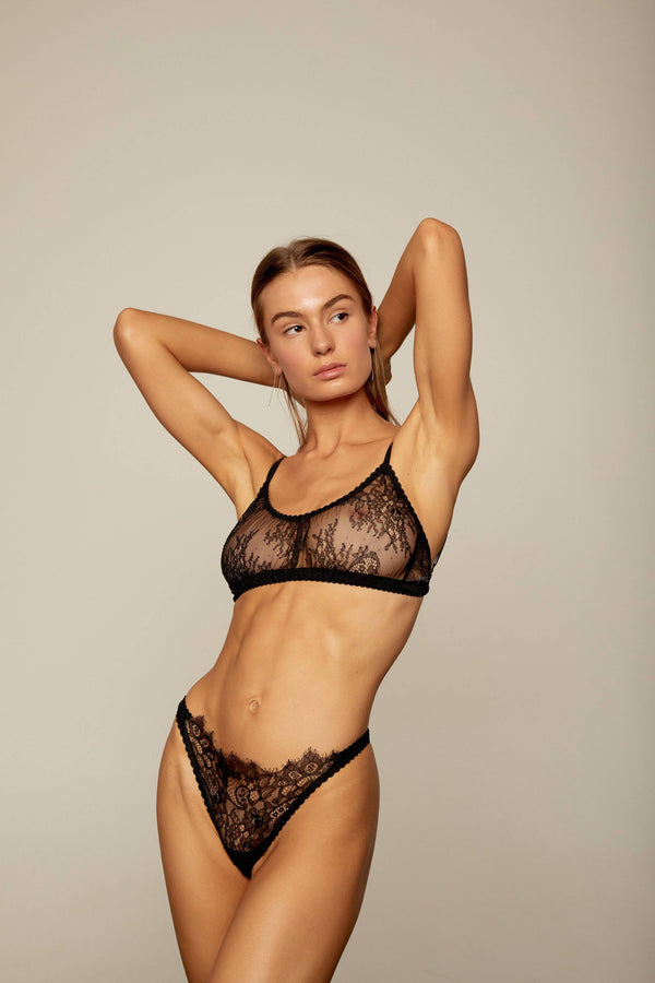 Margot Wide Strap Crop | Black - Souszy - Aimee-Cherie Intimates