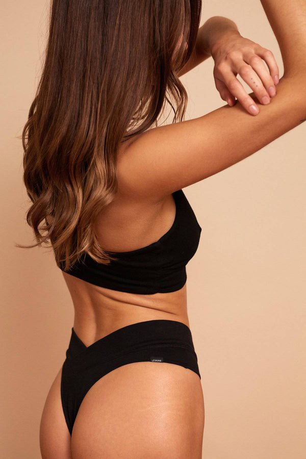 Billie Organic Cotton G String | Black
