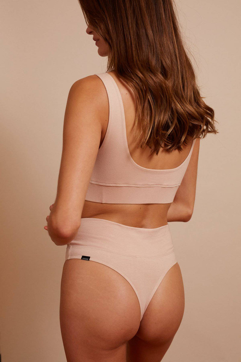 Taylor Cheeky Organic Cotton G String | Rose