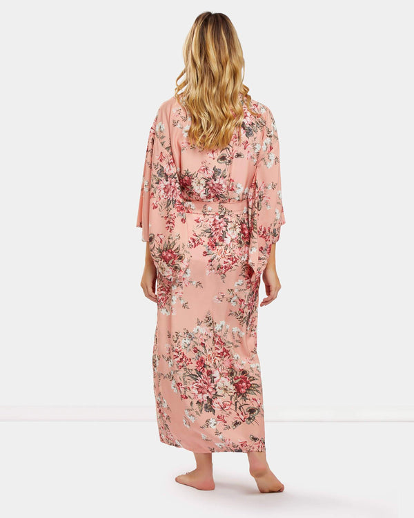 Peach Kimono Robe - Souszy - Dream With Me