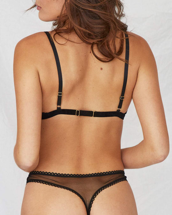 Coming Soon | Saturday Mesh G-String | Black