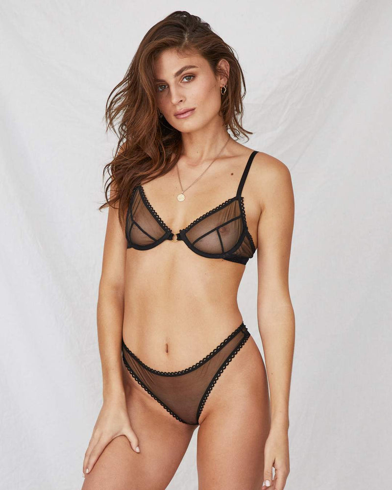 Saturday Mesh G-String | Black