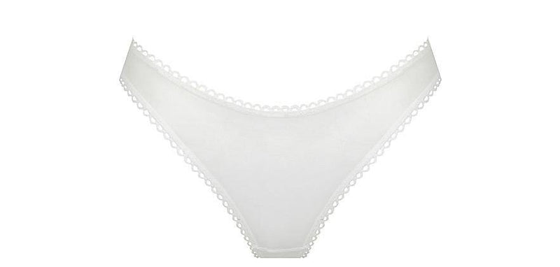Saturday Mesh G-String | White