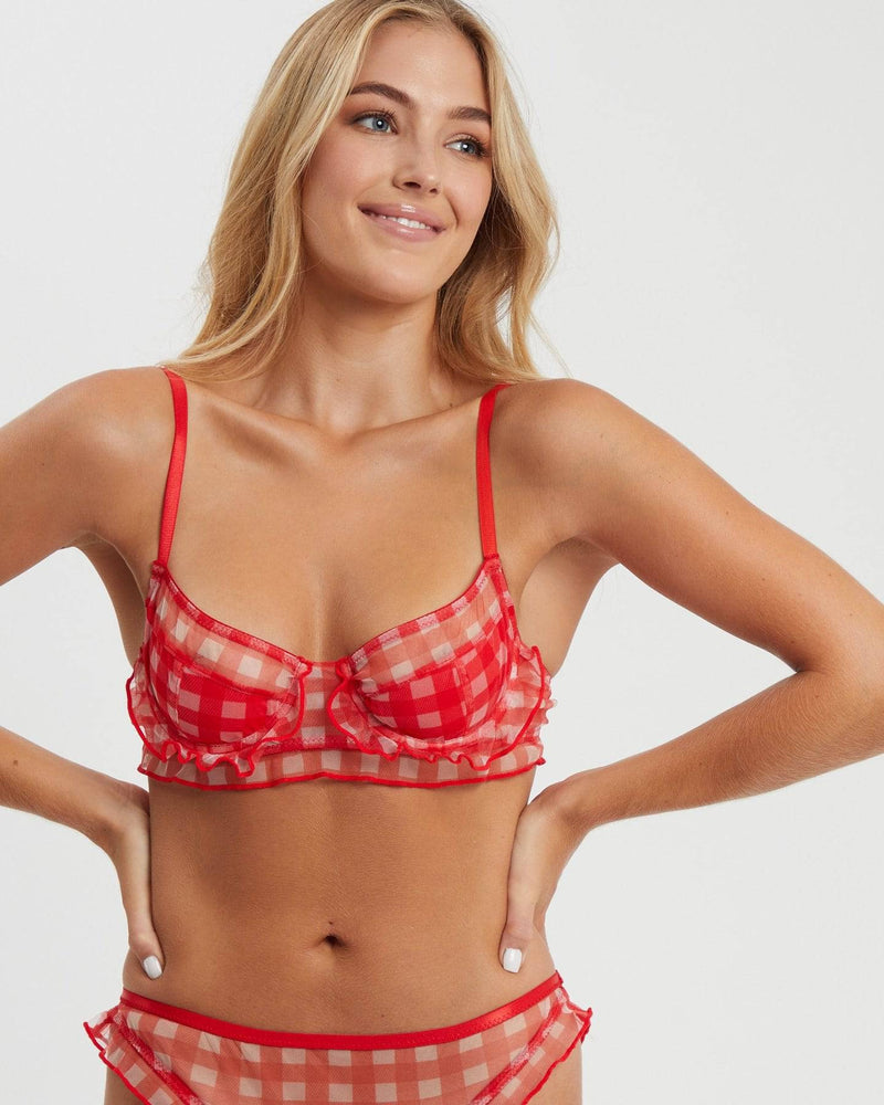 Stevie Underwire Bra | Red Gingham - Souszy - Saturday The Label