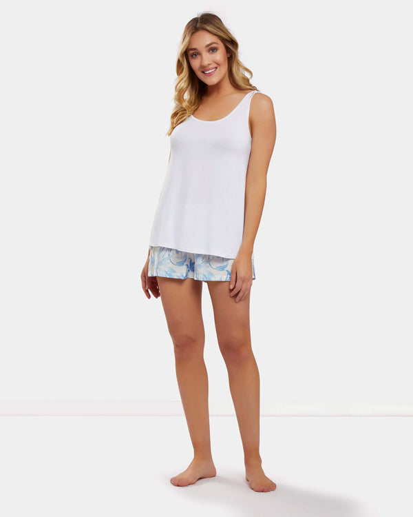 White Bamboo Singlet - Souszy - Dream With Me