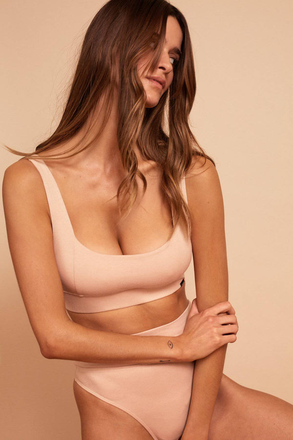 Harlow Organic Cotton Crop | Rose