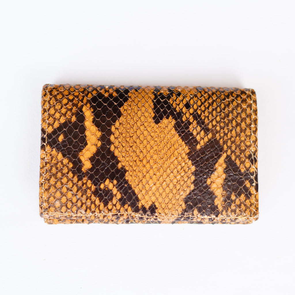 Snake Skin Bifold Card Holder