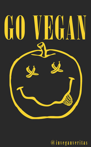 Vegan Grunge Smile Sticker
