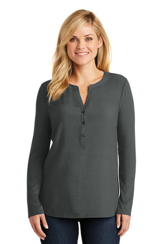 |Business Attire| Port Authority® Ladies Concept Henley Tunic