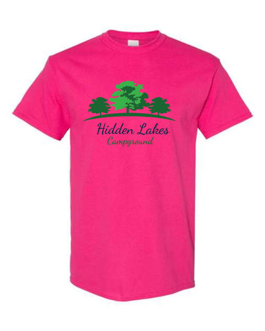 Hidden Lakes Campground Short Sleeve Gildan Tee (youth & adult)