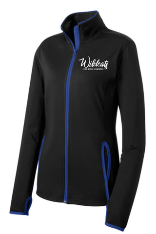 TR Wildcats Sport Tek Contrast Fill Zip Black/True Royal