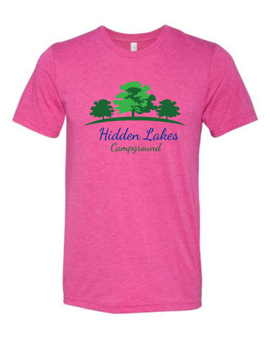 Hidden Lakes Campground Bella+Canvas Short Sleeve Tee