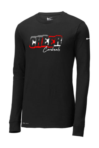 GHV Cardinals Cheer 2020 Nike Dri-FIT Cotton/Poly Long Sleeve