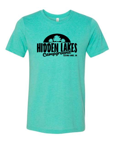 Hidden Lakes Campground - Sunset - Short Sleeve Adult Tee