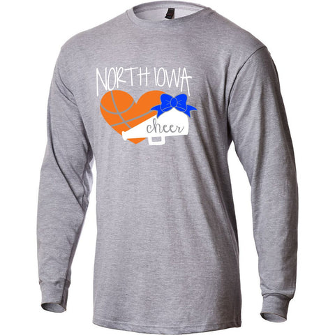 North Iowa Basketball Cheer 2021 Long Sleeve Tee