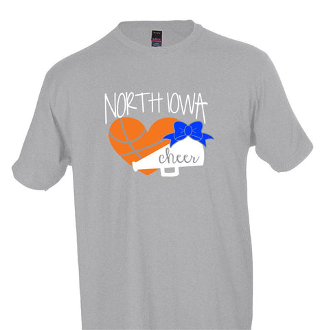 North Iowa Basketball Cheer 2021 Short Sleeve Tee