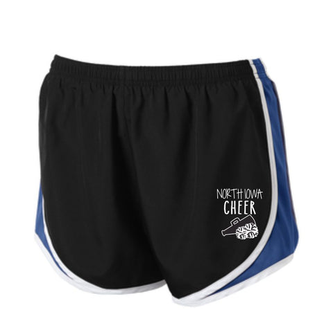 North Iowa Basketball Cheer Ladies Sport Tek Shorts 2021