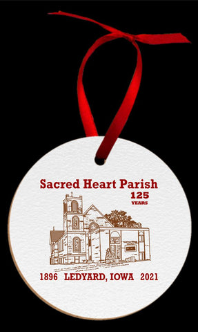 Sacred Heart Parish Round Ornament