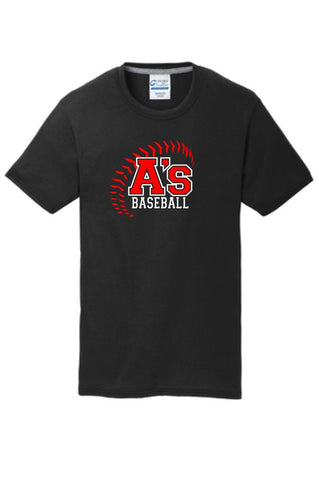 A's Baseball Port & Co. Cotton Feel Short Sleeve Tee