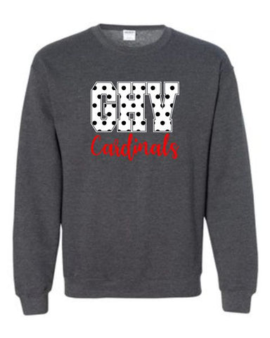 GHV Gildan Crew Neck Sweatshirt with Polka Dot Print
