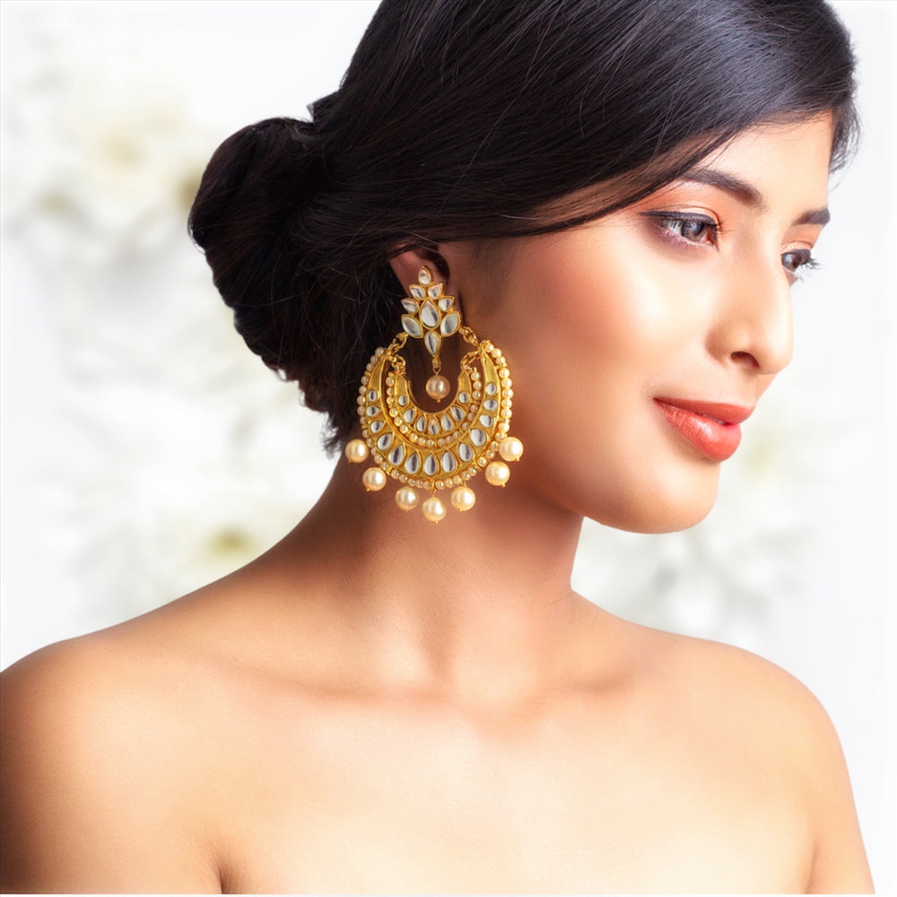 Mira Chand Balis with Golden Pearls