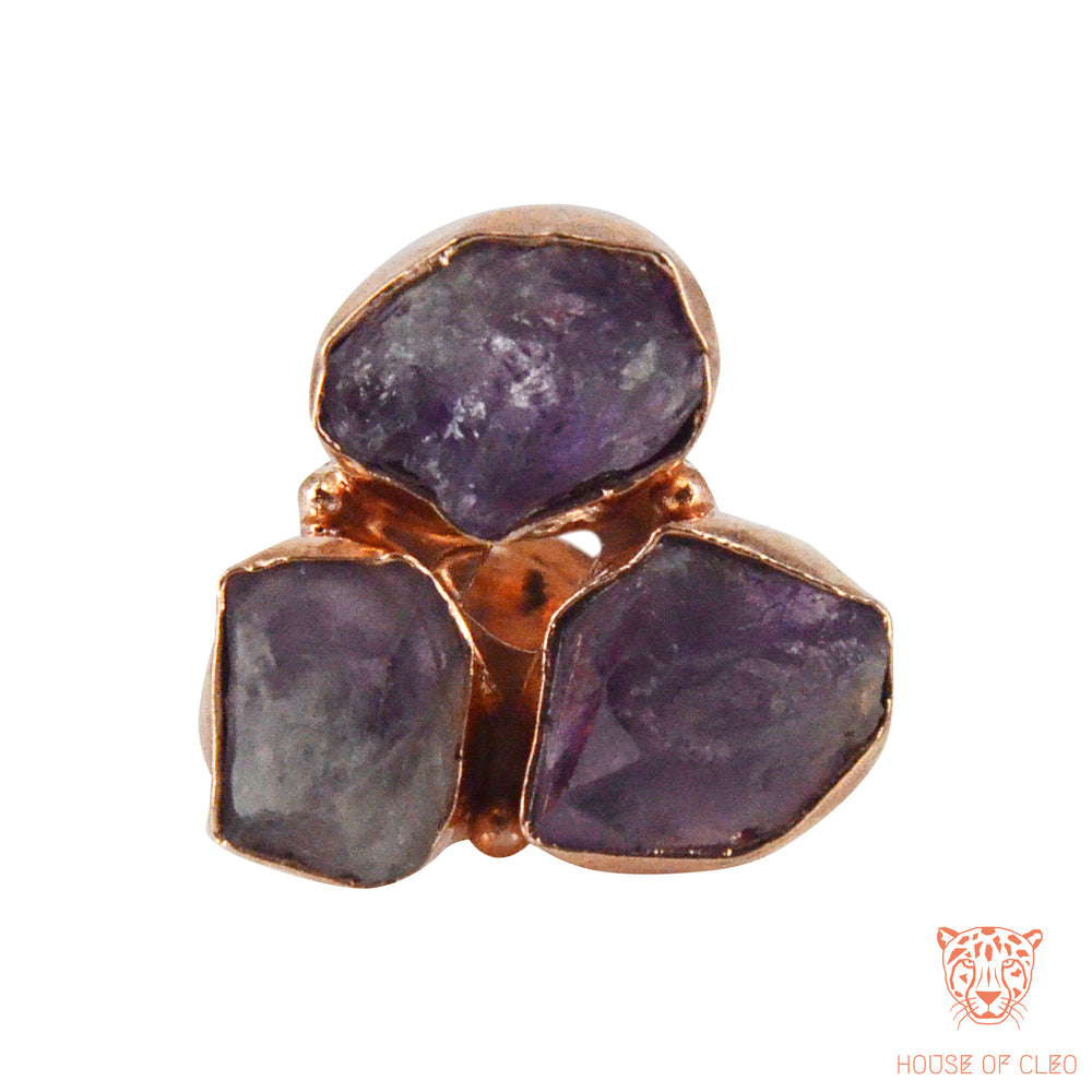 Triangular Ring Amethyst