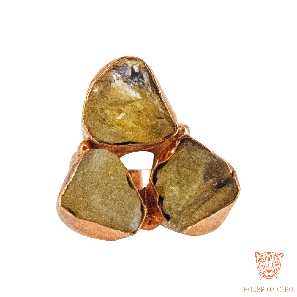 Triangular Ring Citrine