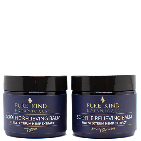 Pure Kind Botanicals™ -Soothe Pain Relieving Balm – Full Spectrum Hemp Oil Extract 550mg   2oz. Unscented