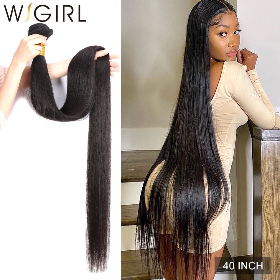 Mèches/tissage lisse 28 30 32 40 Inch Brazilian 100% Human Hair Extension - Laety's Beauty Cosmetics