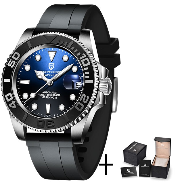 Montre hommes automatique saphir de luxe waterproof - Laety's Beauty Cosmetics