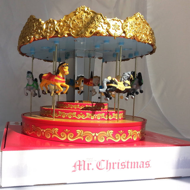 Golden Era Carousel Mr.Christmas - Karussell mit Pferden