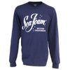 Sea Foam Distressed Logo Long Sleeve Tee