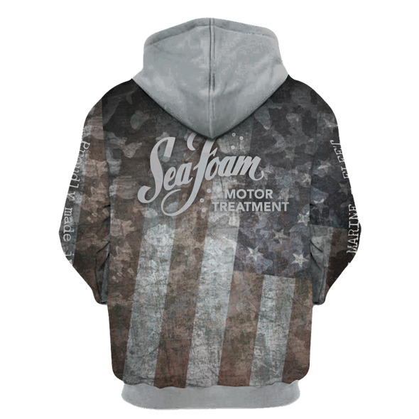 Sea Foam Flag Sublimated Hoodie